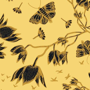 ORCHID OWL BLACK - NAPLES YELLOW