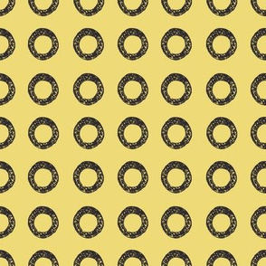 Yellow African Mud cloth