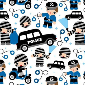 Thiefs cobs and robbers police theme LARGE