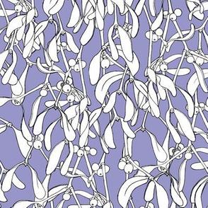 Winter Mistletoe Pattern Lilac