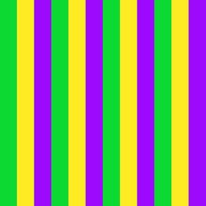 Mardi Gras Half Inch Vertical Stripes