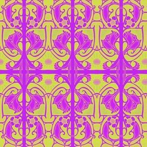 Purple and Lime Nouveau Splat