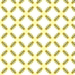 Starry Squares Diagonal Pattern Lt Gold White
