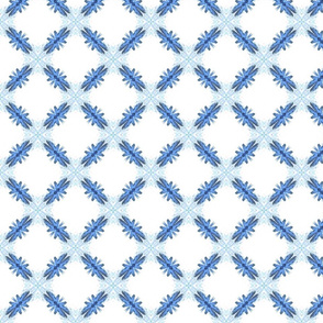 Starry Squares Diagonal Pattern Lt Blue