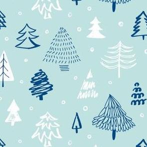 Scandinavian Christmas forest