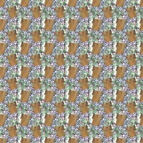 Floral Silky Terrier portraits - small