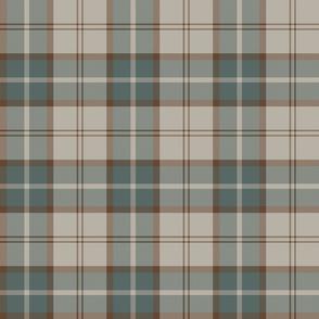 """Dunbar tartan, 6"""", custom colorway redbrown/slate/beige"""