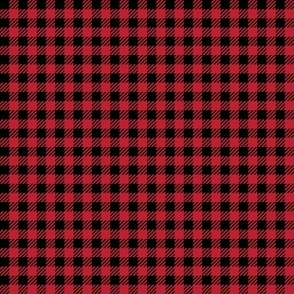 """1/4"""" plaid - black and red"""