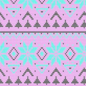 Scandinavian pink ornament