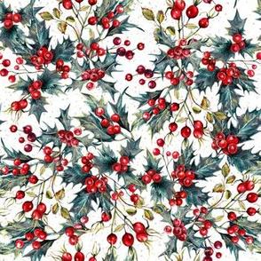 Winter - Berries White