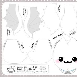 Cut & Sew Bat Plush Ghost
