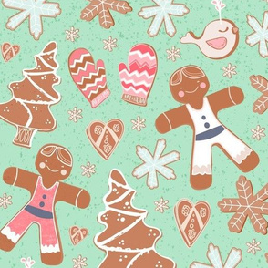 gingerbread lady cookie design