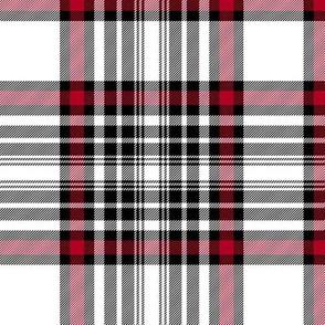 "Dunbar tartan #2, red stripe, 6"""