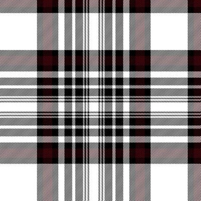 "Dunbar tartan #2, black-red stripe, 6"""