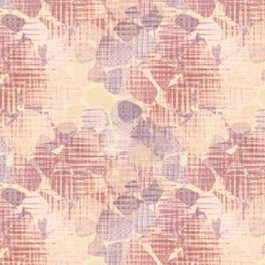 Brown and beige abstract flowers