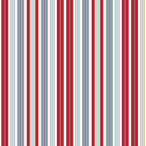 Sunset Stripe Red and Gray