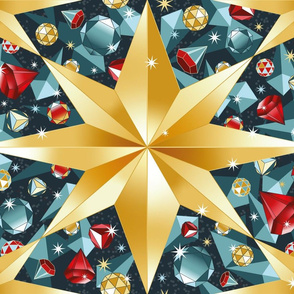 golden christmas stars kaleidoscope