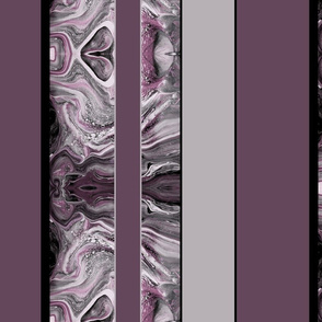 Large Marbled Stripes in Mauve Pink