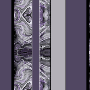 Large Marbled Stripes in Smoky Plum