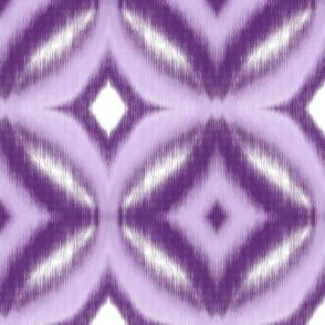 Circles Ikat Pattern in Violet