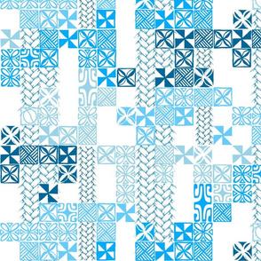 Tapa Tuesday Blue on white