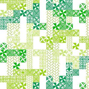 Tapa Tuesday Green on white