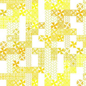 Tapa Tuesday Yellow on white