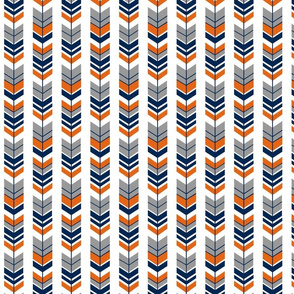 Feathered Arrow Navy Orange