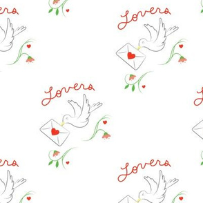 Love Birds - Heart Print