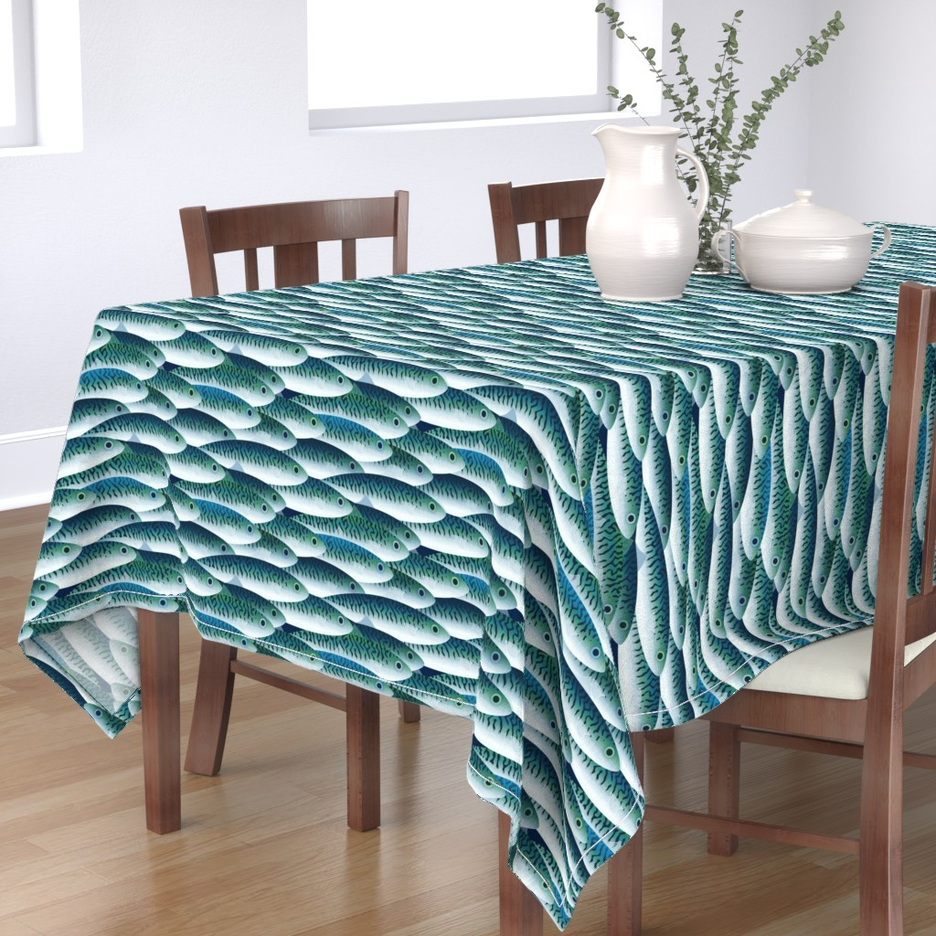 Bantam Rectangular Tablecloth featuring Sea by spellstone