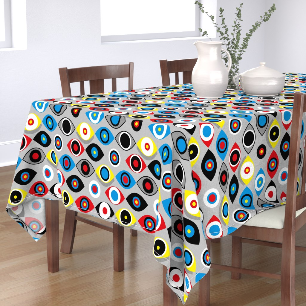 Bantam Rectangular Tablecloth featuring Eye on the Target by spellstone