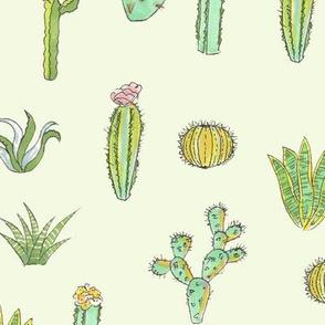Cactus Pattern - Mint Green