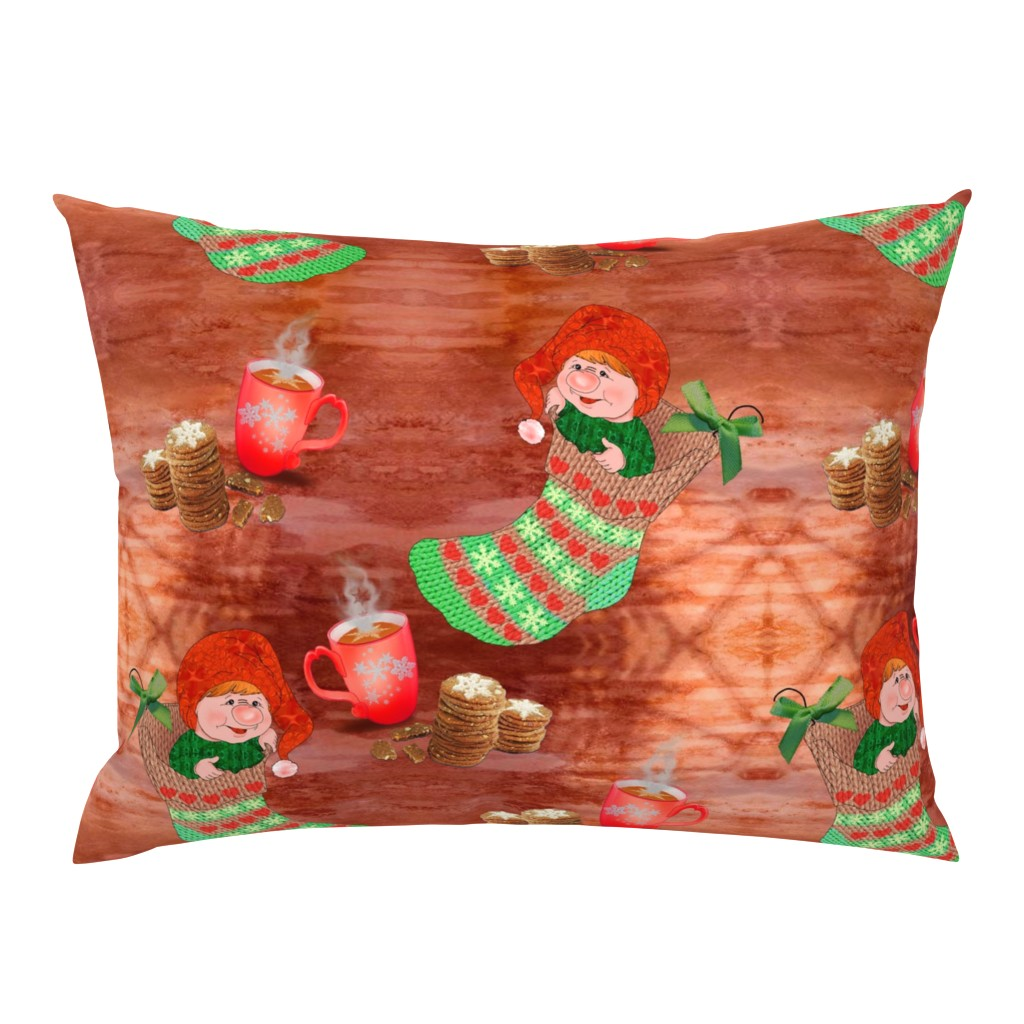 Campine Pillow Sham featuring Hygge  in a christmas  stocking by snarets