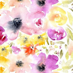 Watercolor floral tenderness