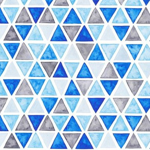 Bears companion - triangles blue