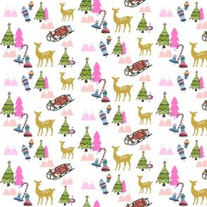 Christmas Meadow 676 - pink