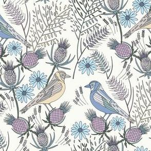 Thistle Birds, Cream