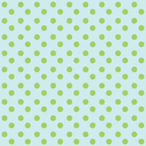 polka dots MED 2x2 - seaglass  lime