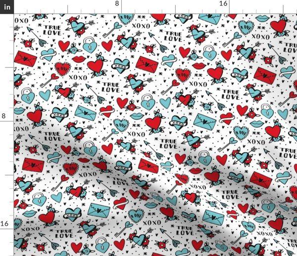 TIKI TOK BIRDS Fabric Fat Quarter Cotton Craft Quilting ABSTRACT BIRDS