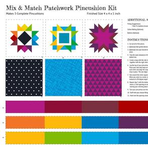 Mix and Match Pincushion Cut and Sew Kit