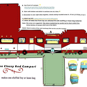 Cut and Sew Little Red Camper Trailer