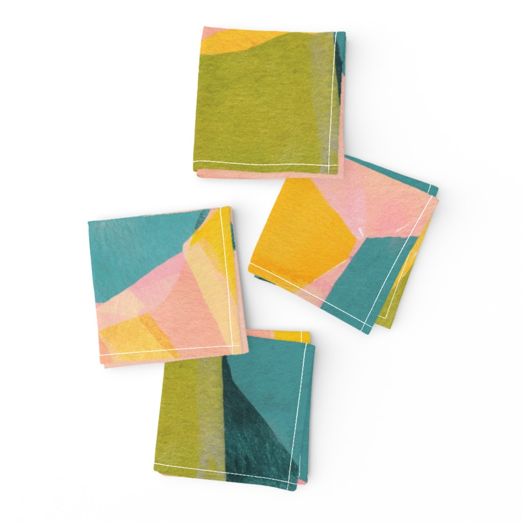 Frizzle Cocktail Napkins featuring Abstraction by tasiania