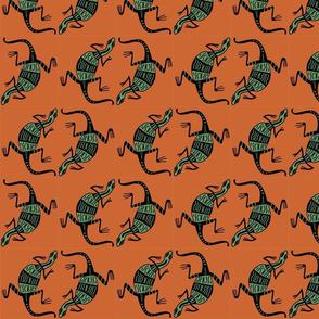 Lizards green