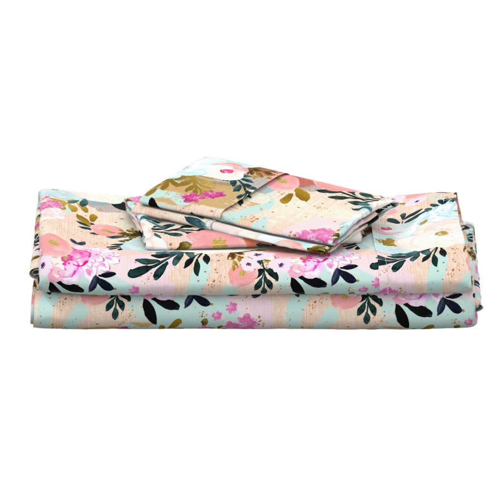 Langshan Full Bed Set featuring florence painterly floral by crystal_walen