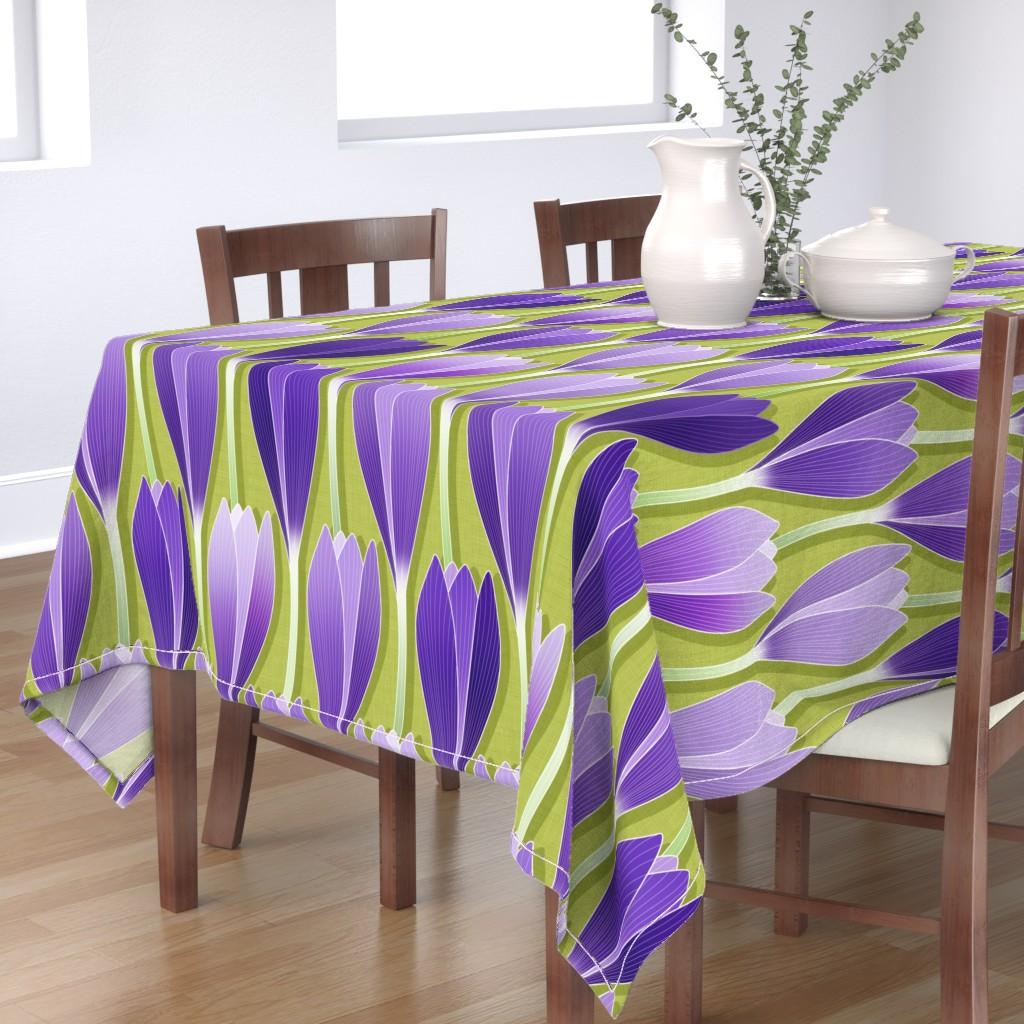 Bantam Rectangular Tablecloth featuring Saffron Garden by spellstone