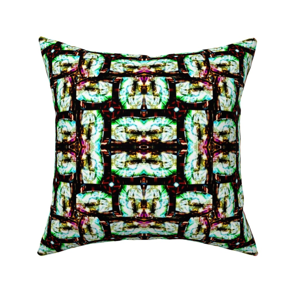Catalan Throw Pillow featuring The Looking Glass by bejilledbyjillimac_designs