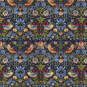 William Morris ~ Strawberry Thief ~ Bright Blue ~ Medium