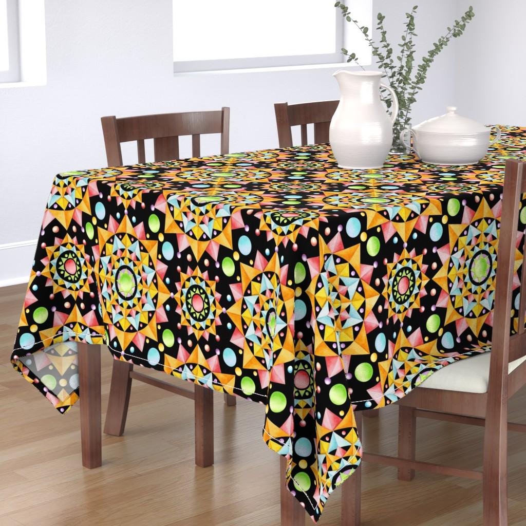 Bantam Rectangular Tablecloth featuring Circus Confetti by patriciasheadesigns