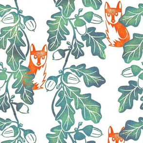 The Fox and the Oak Leaf