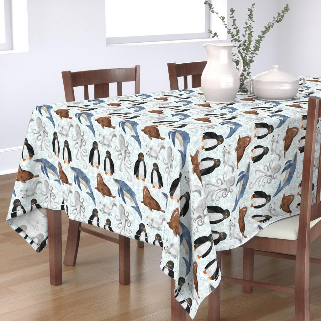 Bantam Rectangular Tablecloth featuring Arctic Animals by taylor_bates_creative